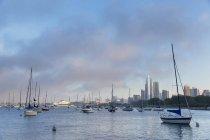Segelboote im Hafen, Chicago, illinois, usa — Stockfoto