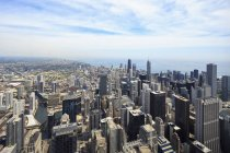 Chicago, Illinois, Chicago vista del paisaje urbano desde la Torre Willis - foto de stock