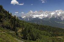 Austria, Styria, Liezen District, Tauern, Reiteralm, View to Dachstein mount  during daytime — Stock Photo