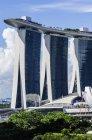 Sudeste de Asia, República de Singapur, Singapur, Marina Bay, Marina Bay Sands Hotel - foto de stock