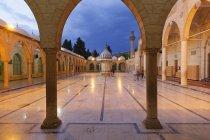Turkey, Anatolia, Mevlid-i Halil Camii, Dergah mosque at dawn — стокове фото
