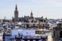 Spanien, Andalusien, Sevilla Luftaufnahme Stadtbild — Stockfoto