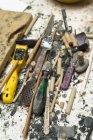 Deutschland, München, Werkzeuge in der Kunstgiesserei — Stockfoto