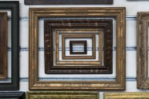 Variation of wooden picture frames — Stock Photo