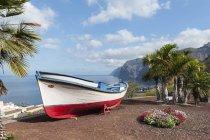 Spagna, Isole Canarie, Tenerife, Costa occidentale, Los Gigantes, Barca da pesca diurna — Foto stock