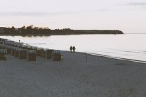 Germany, Mecklenburg-Western Pomerania, Boltenhagen. Beach in the evening — Stock Photo