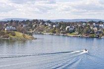 Scandinavia, Norway, Oslo, Cityview, harbour and coast — Stock Photo