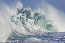 Ozean Welle Rip Curl Ansicht in hellem Sonnenlicht — Stockfoto