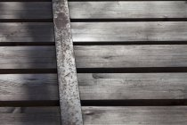 Top view of dark shabby wooden planks — Stock Photo