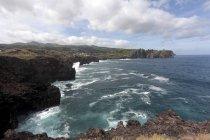 Portugal, Azores, Sao Miguel, Morro das Capelas, coastline — стоковое фото