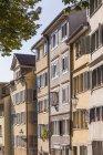 Швейцарія, Цюріх, старого міста, Fortunagasse, старі будівлі видом на при сонячному світлі — стокове фото