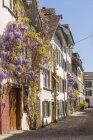 Suíça, Basileia, casas na cidade velha — Fotografia de Stock