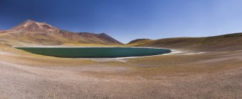 Südamerika, Chile, Atacama-Wüste, Laguna Miniques, im Hintergrund Anden — Stockfoto