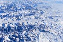 Groenlandia, Veduta aerea della calotta glaciale della Groenlandia — Foto stock