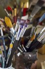 Germany, Bavaria, Variety of paintbrush in glass — Stock Photo