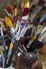 Germany, Bavaria, Variety of paintbrush in glass — Stock Photo