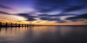 Великобританія Шотландії Едінбург, Портобелло, захід сонця на пляжі — стокове фото
