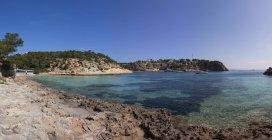 Spagna, Isole Baleari, Maiorca, Veduta della baia delle Tre Dita — Foto stock