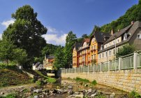 Germania, Sassonia, Tharandt, Al ruscello Schloitzbach — Foto stock