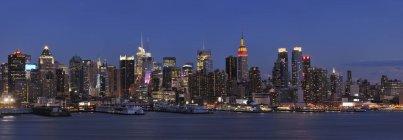 Vista panoramica di Manhattan con fiume Hudson, New York, Stato di New York, USA — Foto stock
