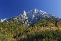 Австрия, Штирия, Гроссер Oedstein, Gesaeuse Национальный парк и панорама вершин в дневное время — стоковое фото
