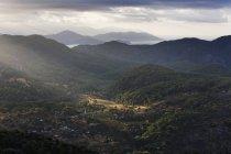 Вид с горы Bozburun Tepesi в деревне Kisla, Мугле, Турция — стоковое фото