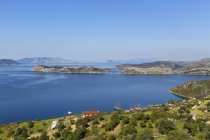 Sgt village, Península de Bozburun cerca de Marmaris, Egeo, Turquía - foto de stock