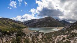Montanha de Espanha, Mallorca, vista da Serra de Tramuntana — Fotografia de Stock