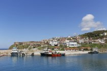 Turkey, Babakale Fortress and fishing harbour — Stock Photo