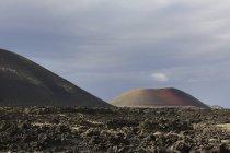Spanien, Lanzarote, Vulkane, Montanas del Fuego — Stockfoto