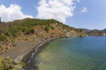 Turchia, Licia, veduta della costa con alberi sull'acqua durante il giorno — Foto stock
