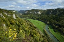 Germany, Baden Wuerttemberg, View from Eichfelsen of Danube Valley — Stock Photo