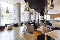Poland, Warsaw, modern lounge at hotel — Stock Photo