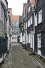 Germany, North Rhine Westphalia, Essen Kettwig, View of old town street — Stock Photo
