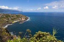Veduta aerea delle scogliere di Madeira a Ponta Delgada, Madeira, Portogallo — Foto stock
