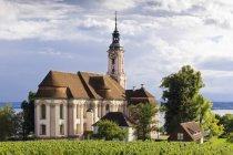 Alemania, Baden wurttemberg, vista de Birnau - foto de stock
