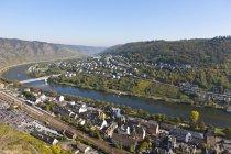 Germany, Rhineland Palatinate, View of Cochem on Moselle — Stock Photo