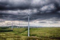 Reino Unido, Escócia, vista da turbina de vento na Dunbar — Fotografia de Stock