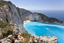 Grecia, Isole Ionie, Zante, Navagio o Spiaggia di Naufragio — Foto stock