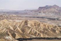 Parte de Israel, desierto de Zin, de Negev, cabecera del Nahal Zin - foto de stock