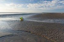 Ansicht der Strand von Sankt Peter-Ording tagsüber, Nordsee, Schleswig-Holstein, Deutschland — Stockfoto