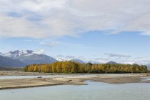 USA, Alaska, View of Chilkat River — Stock Photo