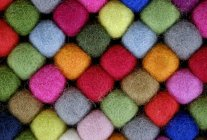 Colourful balls of wool, texture background — Stock Photo