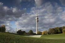Olympic Tower and Olympic Park in Munich, Germany — Stock Photo