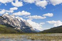 Kanada, Alberta, Jaspis-Nationalpark, Banff-Nationalpark, Parkstraße, Mount Wilson, der sich über dem saskatchewan-Fluss erhebt — Stockfoto