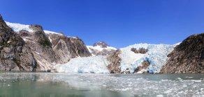 Scenic view to glacier at daylight, Resurrection Bay, Seward, Alaska, USA — Stock Photo