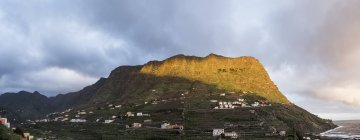 Spain, La Gomera, View of mountain at Hermigua  during daytime — Stock Photo