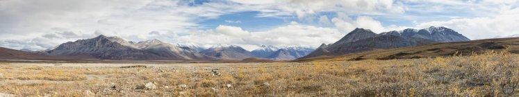 Ruscello di gamma della montagna in autunno, Alaska, Stati Uniti d'America — Foto stock