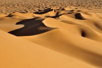 Мальовничий вид на природний ландшафт з піщаних дюн Sahara пустелі, Алжир, Північна Африка — стокове фото