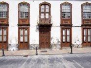 Spain, Canary Islands, La Palma, Los Llanos de Aridane, Plaza de Espana, Old building — Stock Photo